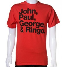John, Paul, George & Ringo rood shirt
