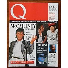 Q magazine nr 1, zeldzaam, first issue Oktober 1986